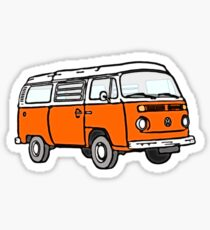 Bay Window Campervan Orange (please see notes) Sticker