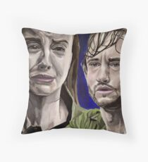 Abigail and Will, acrylic painting Throw Pillow