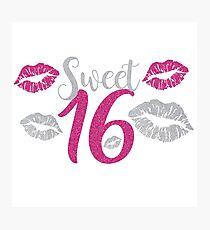 Birthday Sixteen Photographic Print