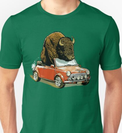 Bison in a Mini. T-Shirt