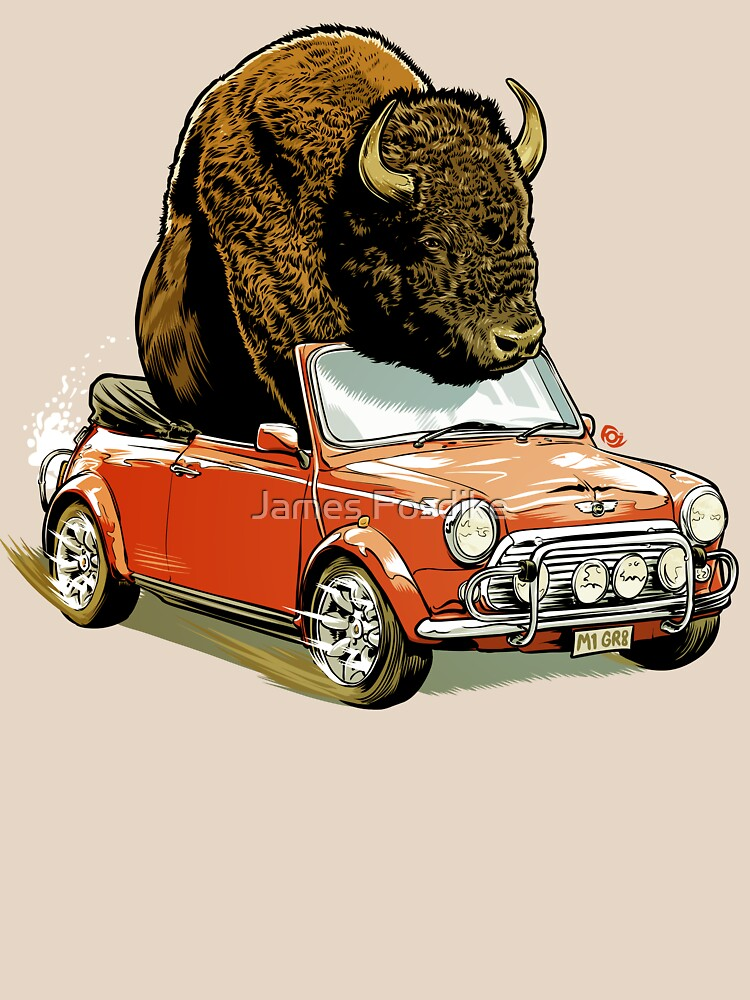Bison in a Mini. | Unisex T-Shirt