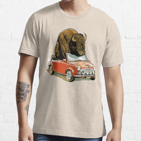 Bison in a Mini. Essential T-Shirt