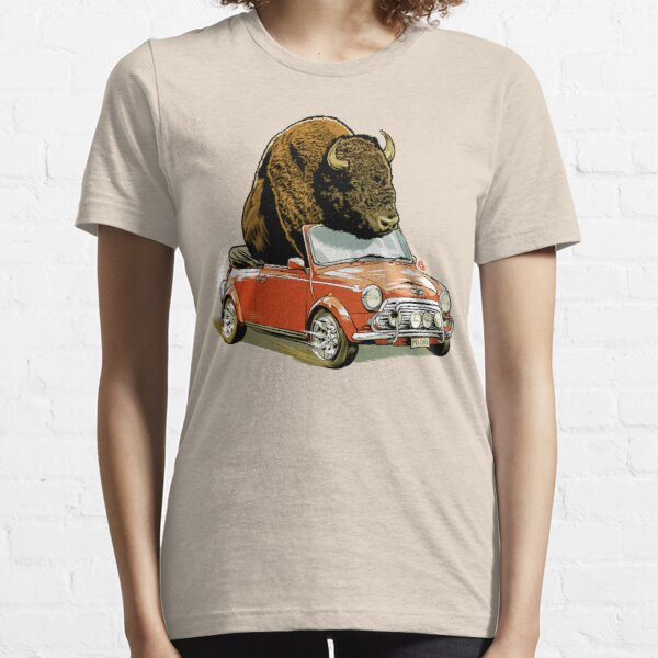 Bison in a Mini. Essential T-Shirt