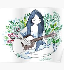 The guitare girl Poster