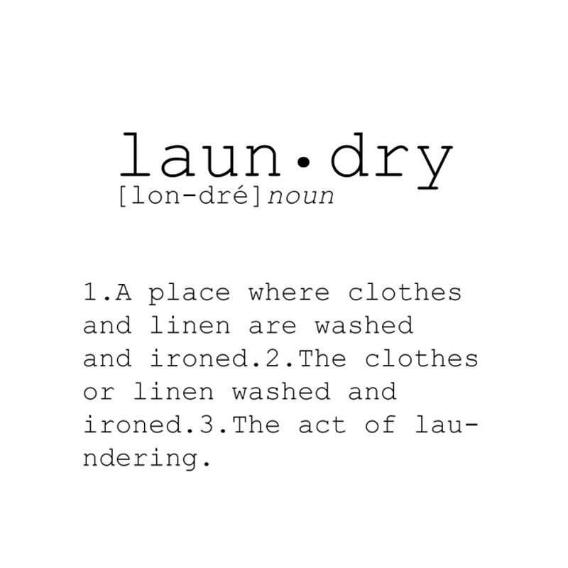 Laundry Word Art Endearing Laundry Definition Poster Quote Wall Decor  Dictionary Word Laundry 2017