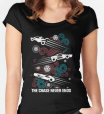 Rocket League Video Game The Chase Funny Gifts Women's Fitted Scoop T-Shirt