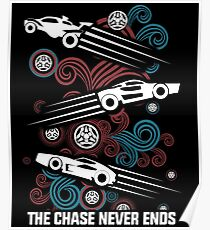 Rocket League Video Game The Chase Funny Gifts Poster
