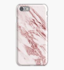 Alabaster rosa - deep pink marble iPhone Case/Skin