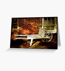 An Old Wheelbarrow, An Ancient House Greeting Card