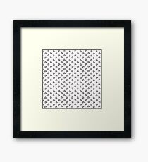 Music note made out of coffee beans Framed Print
