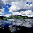 Black Mount neon glow 263, the Highlands, Scotland by David Rankin