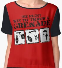 The right way to throw a Grenade! Chiffon Top