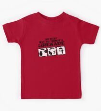 The right way to throw a Grenade! Kids Tee