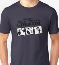 The right way to throw a Grenade! Unisex T-Shirt