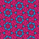 Patterns::Blue-Pink Flowers by artkarthik