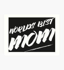 World's best mom Art Print