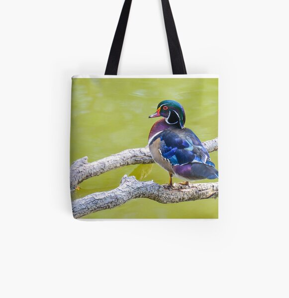 Wood Duck  All Over Print Tote Bag