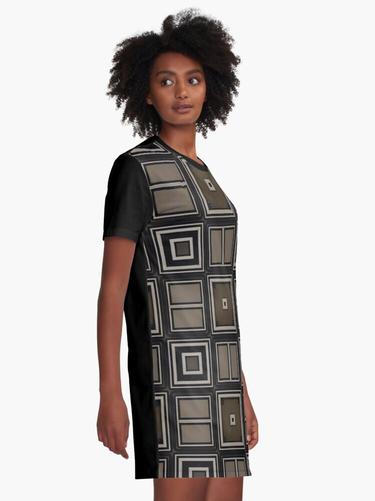 Alternate view of Earthy Taupe Design by Julie Everhart Graphic T-Shirt Dress