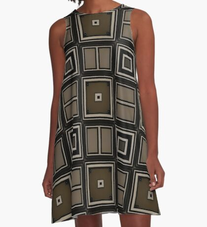 Earthy Taupe Design by Julie Everhart A-Line Dress