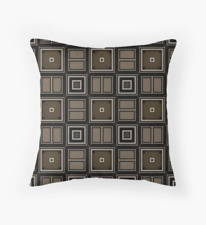 Earthy Taupe Design by Julie Everhart Throw Pillow