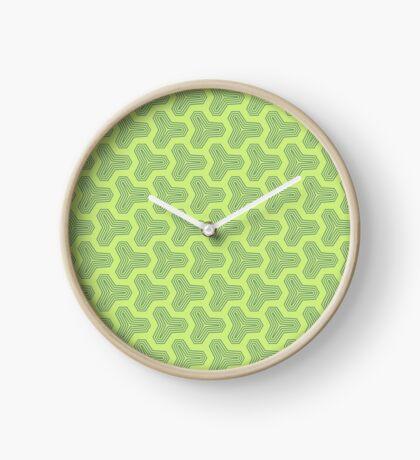 Retro Green Design by Julie Everhart Clock
