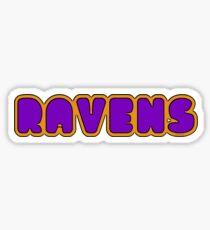 Ravens Font Sticker