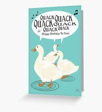 Duck Birthday Card Greeting Card