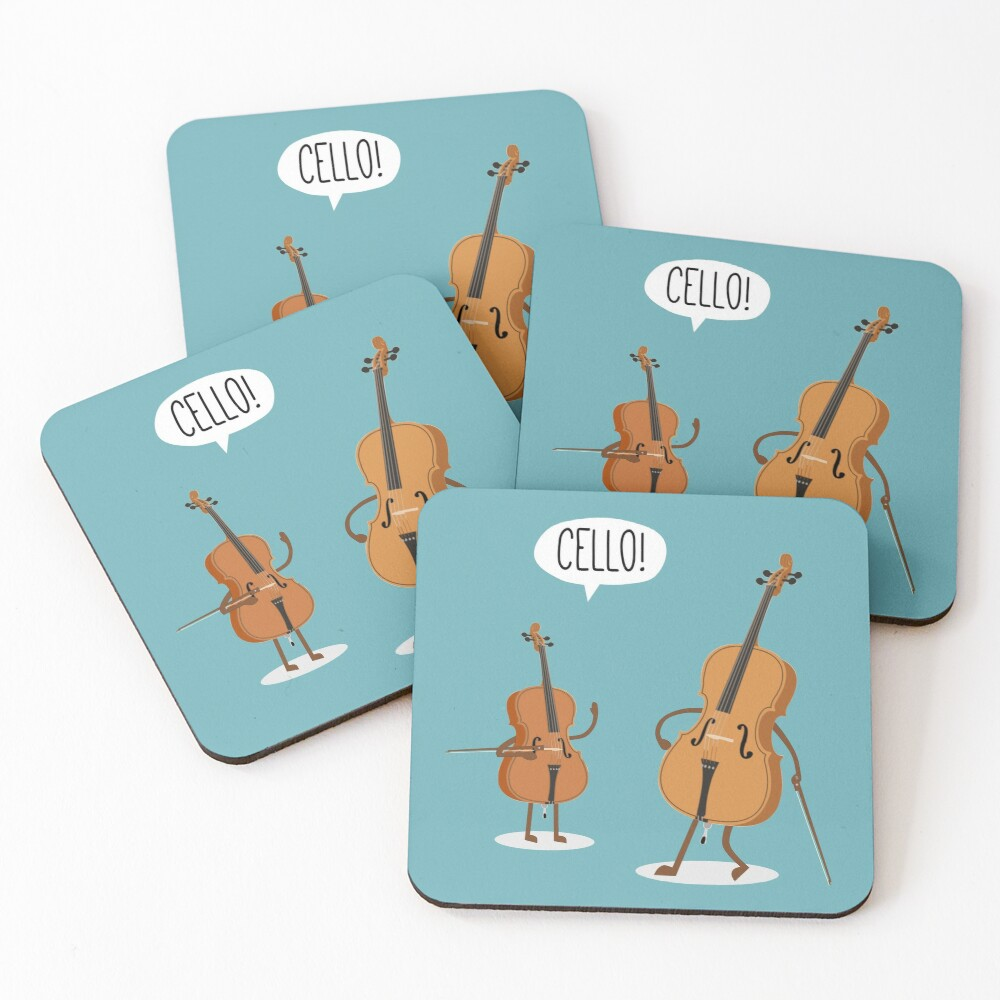 Cello! Coasters (Set of 4)
