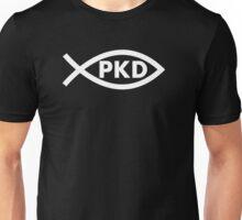 PKD Jesus Fish (white) Unisex T-Shirt