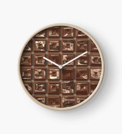 Golden Cubes Design by Julie Everhart Clock