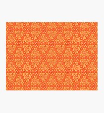 Patterns::Orange Blades Photographic Print