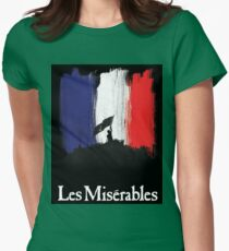 Les Miserables poster Womens Fitted T-Shirt