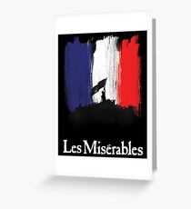 Les Miserables poster Greeting Card