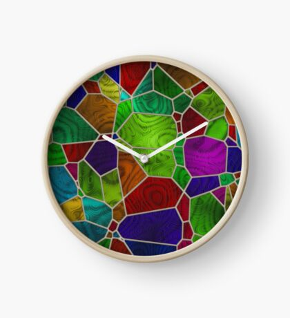 Stained Glass Design by Julie Everhart Clock