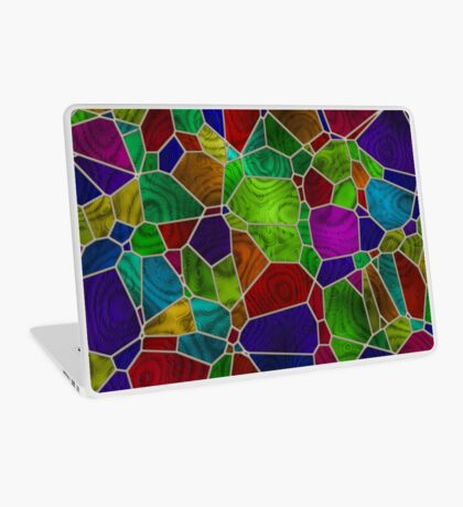 Stained Glass Design by Julie Everhart Laptop Skin