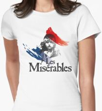 Les Miserables logo girl Women's Fitted T-Shirt