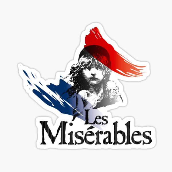 Les Miserables logo girl Sticker