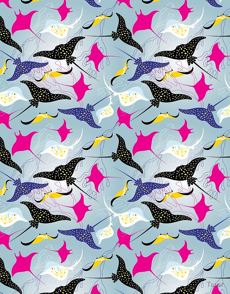 Seamless pattern stingray by Tanor