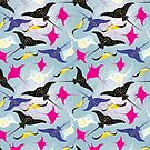 Seamless pattern stingray by Tanor