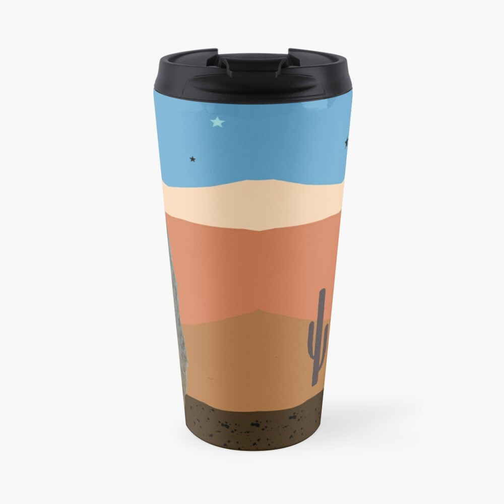 Desert Meercats and Cactus Travel Mug