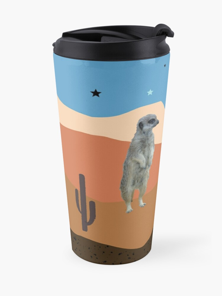 Alternate view of Desert Meercats and Cactus Travel Mug
