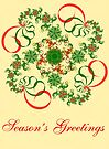 Abstract Christmas Card by Sandy Keeton