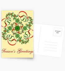 Abstract Christmas Card Postcards