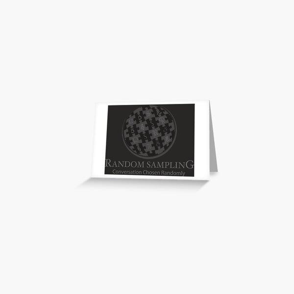 Random Sampling logo Greeting Card