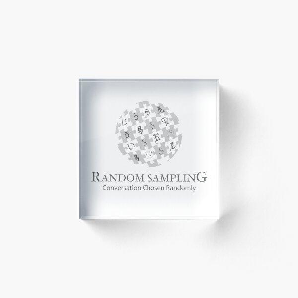 Random Sampling logo Acrylic Block