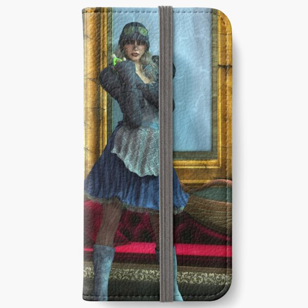 Alice in Steampunk Wonderland iPhone Wallet