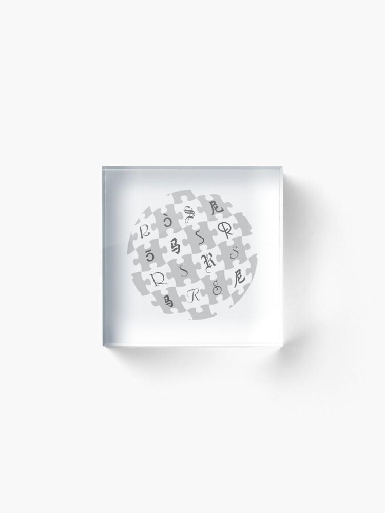 Alternate view of Random Sampling Globe  Acrylic Block