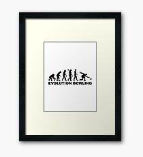 Evolution Bowling Framed Print