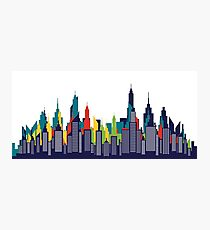Modern American City Skyline Silhouette Photographic Print