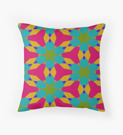 Groovy Flower Design by Julie Everhart Throw Pillow